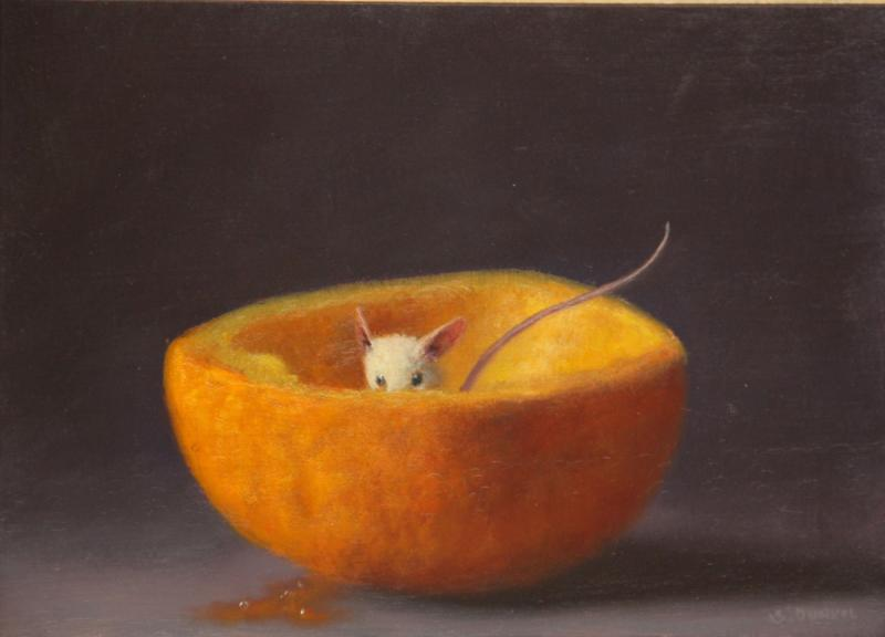 Bashful , oil on panel, 5 x 7 inches  SOLD