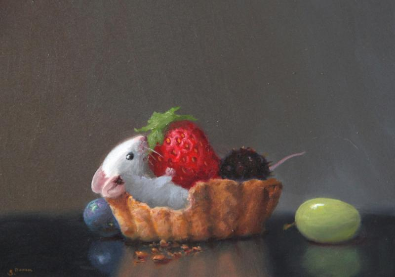 Berry Bliss, oil on panel, 5 x 7 inches  SOLD
