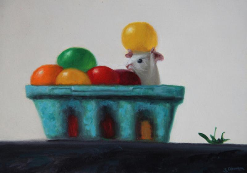 Best One, oil on panel, 5 x 7 inches, $800