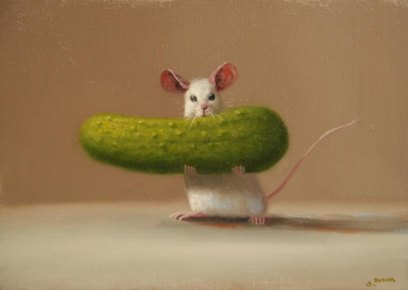 Best Pickle, oil on panel, 5 x 7 inches  SOLD