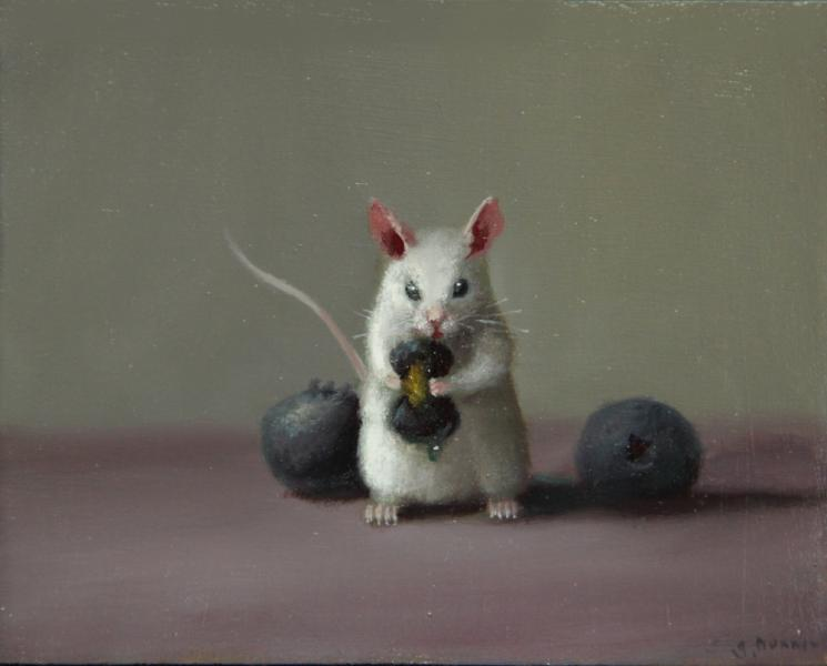 Big Squeeze, oil on panel, 4 x 5 inches  SOLD
