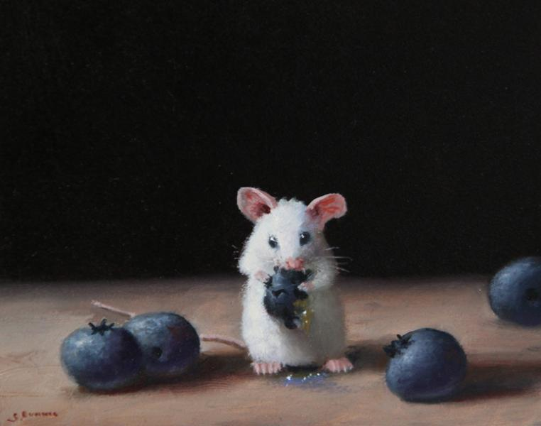 Brunch, oil on panel, 4 x 5 inches  SOLD