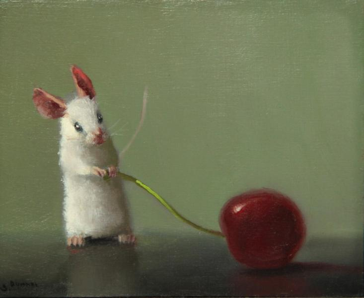 Choosen Cherry, oil on panel, 4 x 5 inches, $600