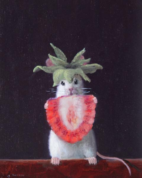 Crowned, oil on panel, 5 x 4 inches  SOLD
