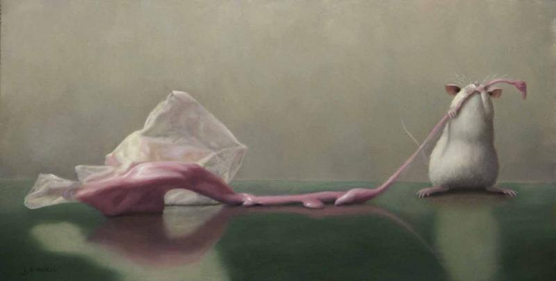 Taffy Pull, oil on panel, 6 x 12 inches, $1,800