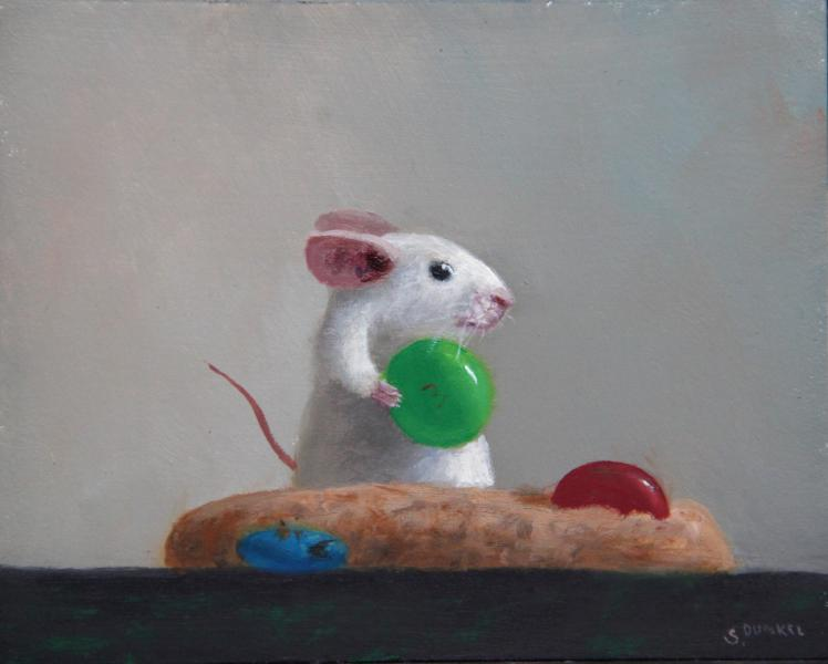 Holiday Cookie, oil on panel, 4 x 5 inches, $600