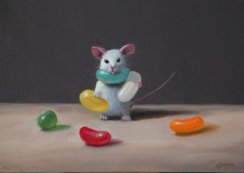 Jelly Belly, oil on panel, 5 x 7 inches  SOLD