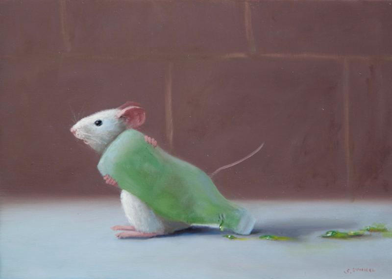 Leaker, oil on panel, 5 x 7 inches, $800