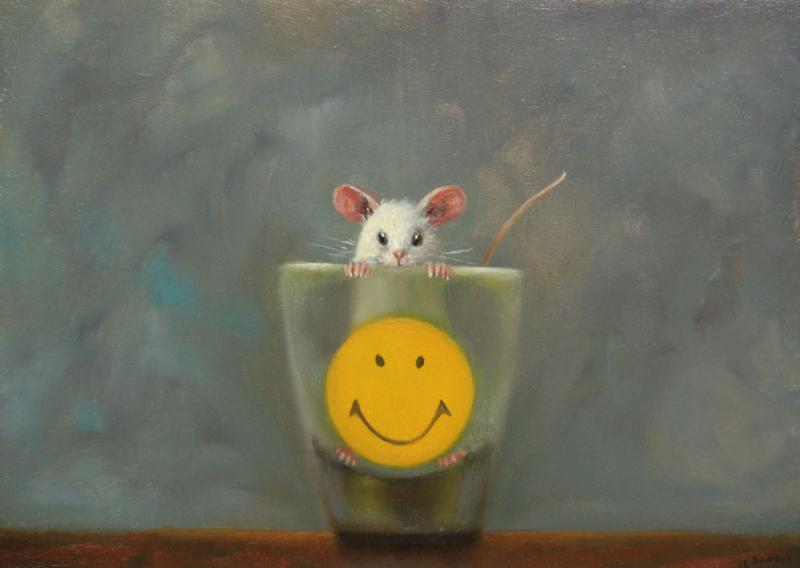 Optimist, oil on panel, 5 x 7 inches, $800