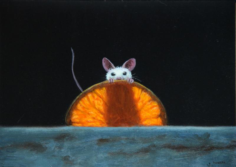 Orange You Glad, oil on panel, 5 x 7 inches   SOLD