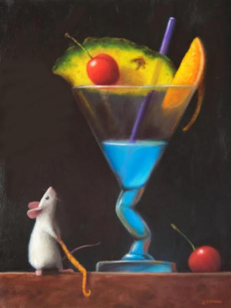 Party Time , oil on panel, 12 x 9 inches, $1,800