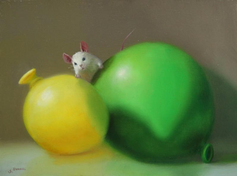 Playtime, oil on panel, 6 x 8 inches, $900