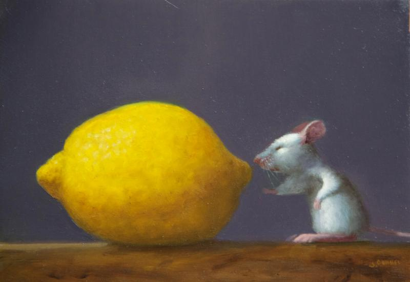 Smell Test, oil on panel, 5 x 7 inches, $800