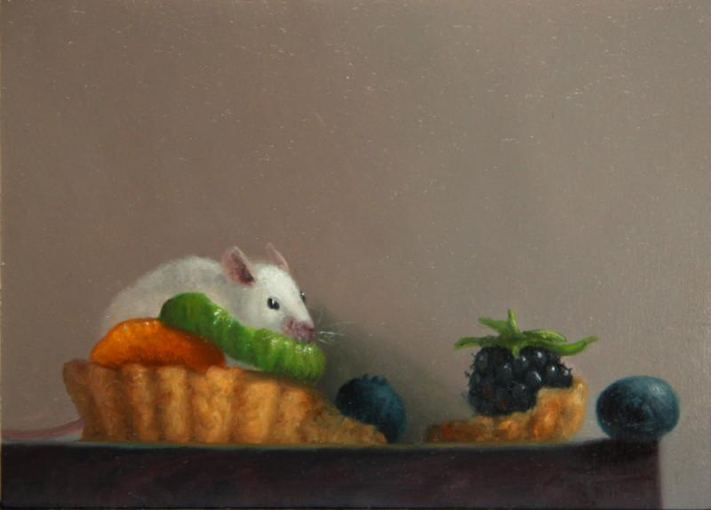 Snack or A Meal, oil on panel, 5 x 7 inches, $800