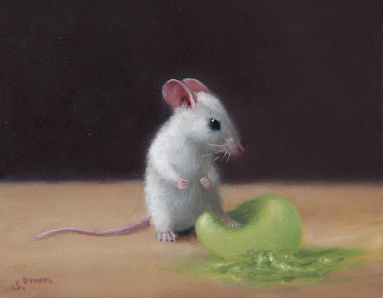 Squish, oil on panel, 4 x 5 inches, $600