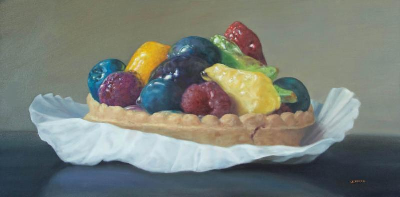 Summer Tart , oil on canvas, 18 x 36 inches, $2,400
