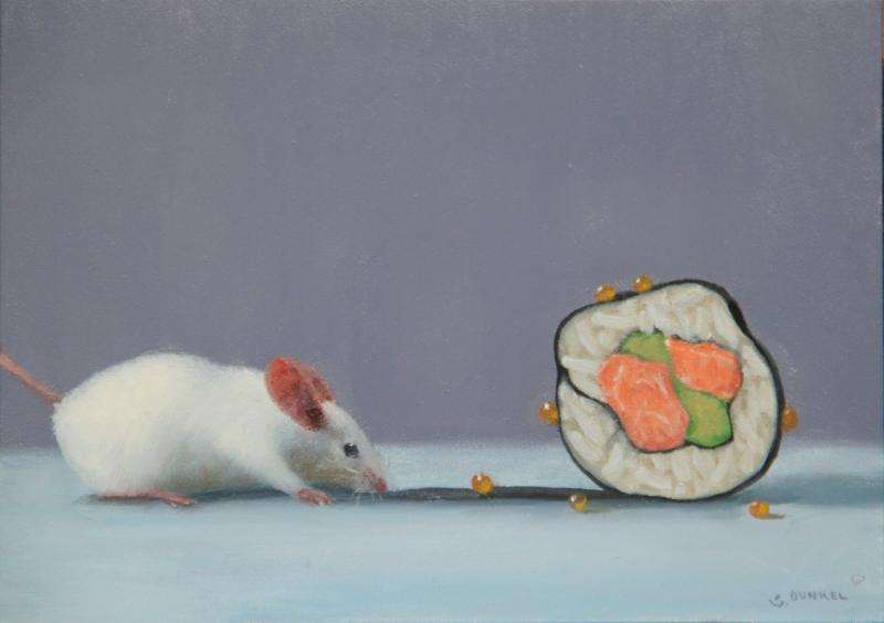 Sushi Trail, oil on panel, 5 x 7 inches  SOLD