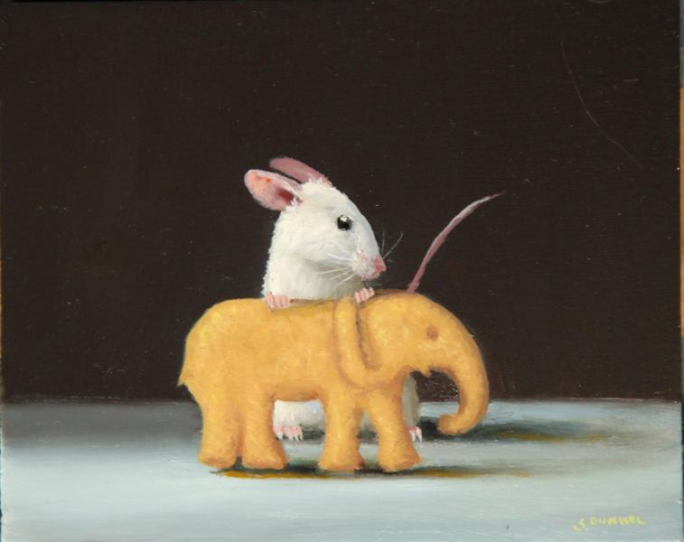 Tamed , oil on panel, 4 x 5 inches  SOLD