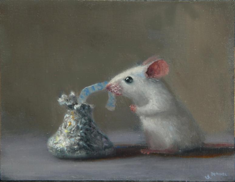 Undress, oil on panel, 4 x 5 inches  SOLD