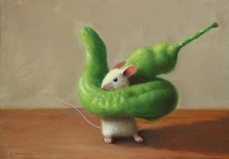 Wrapped Up, oil on panel, 5 x 7 inches, $800