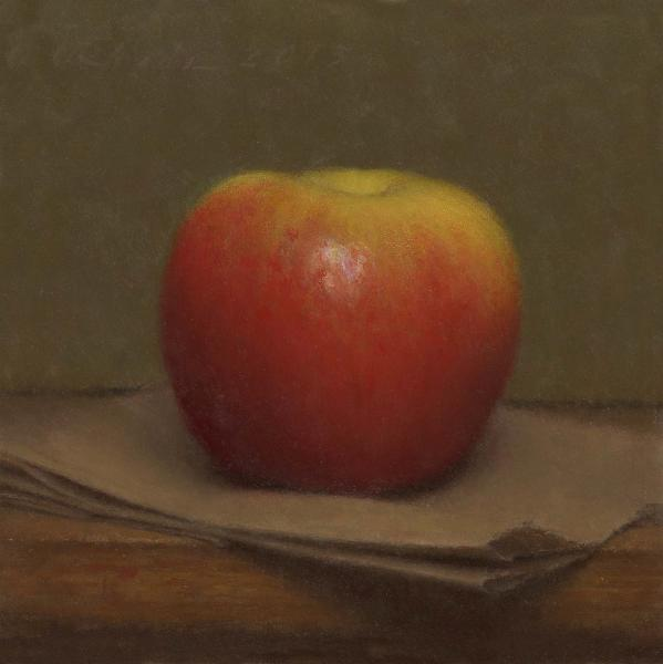 Apple, oil on panel, 6 x 6 inches  SOLD
