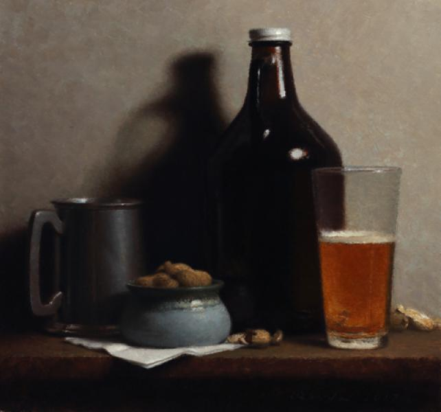 Beer , oil on linen, 14 x 15 inches  SOLD