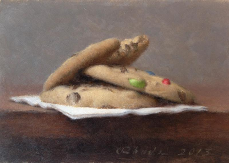 Cookies, oil on panel, 5 x 7 inches  SOLD