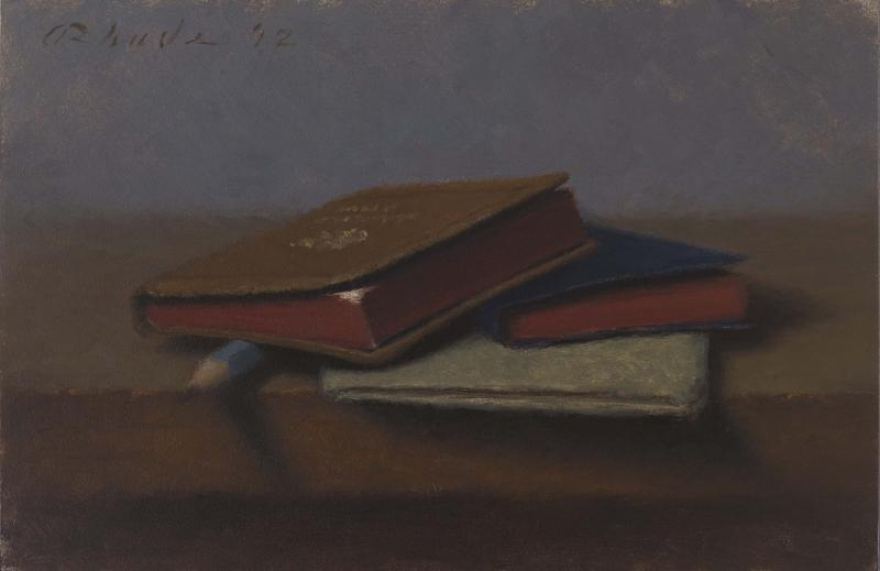 Little Books, oil on linen, 5 x 7 inches  SOLD