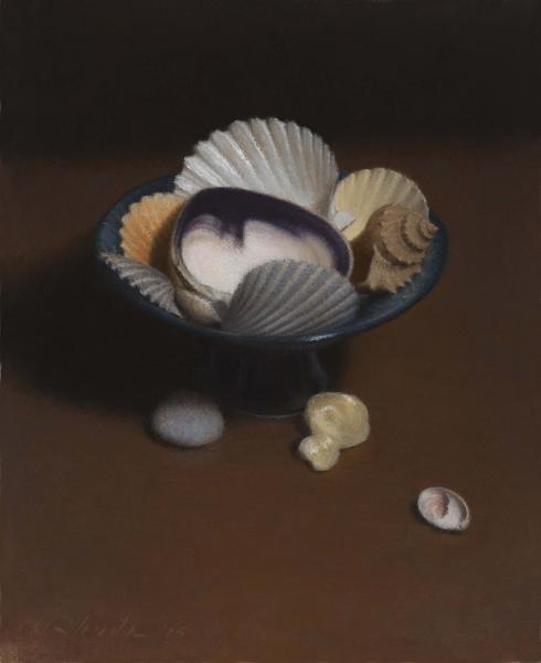Shell Arrangement, oil on linen, 11 x 9 inches  SOLD