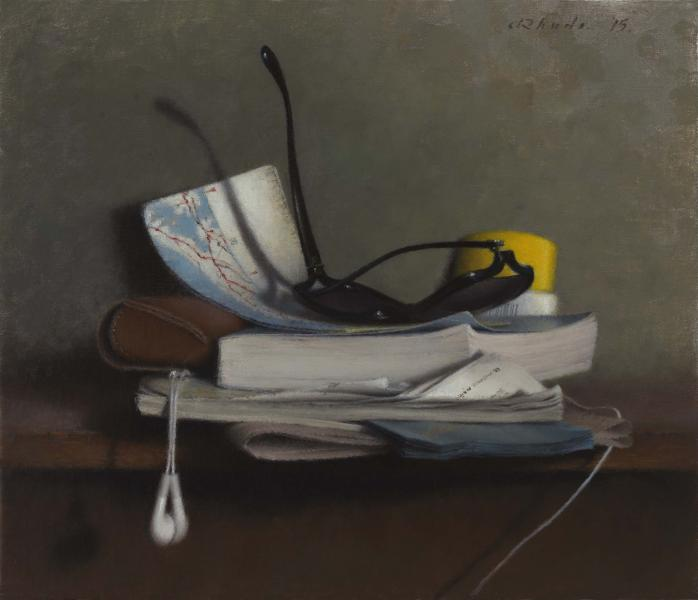 Unplugged, oil on linen, 12 x 14 inches, $4,900