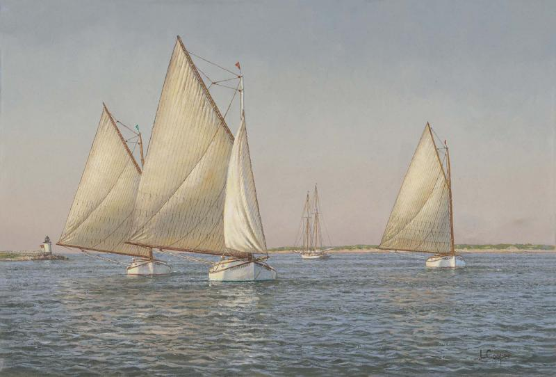 Dredging for Scallops, oil on linen, 15 x 22 inches  SOLD