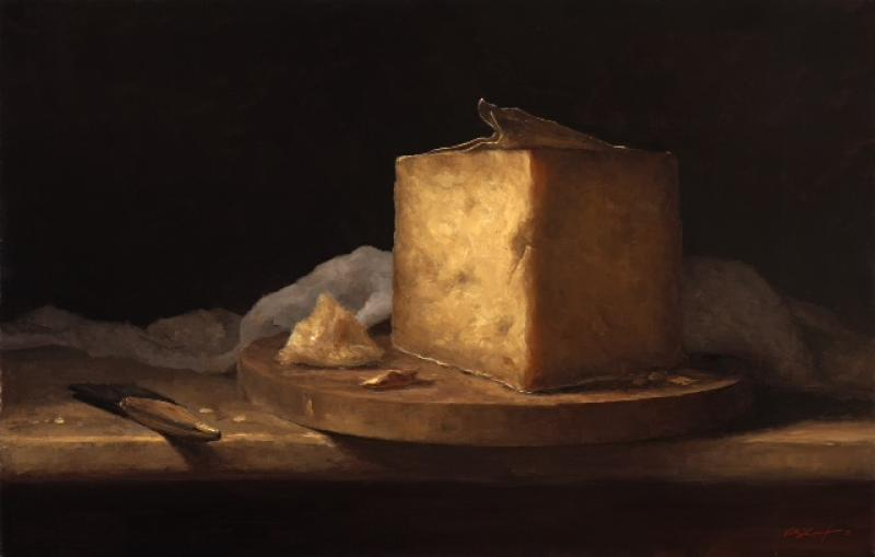Clothbound Cheddar, oil on linen, 16 x 25 inches    SOLD