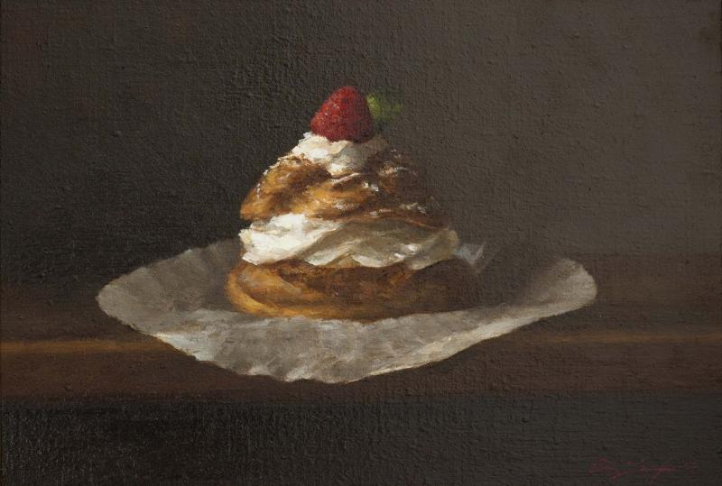 Creme Puff, oil on linen, 8 x 11 inches, $5,500