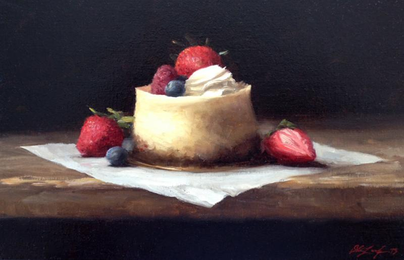 Petite Cheesecake, oil on mounted canvas, 7.5 x 11 inches   SOLD