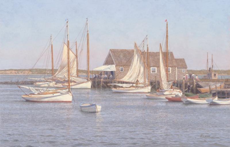 Drying Sails, North Wharf, Nantucket 1900
