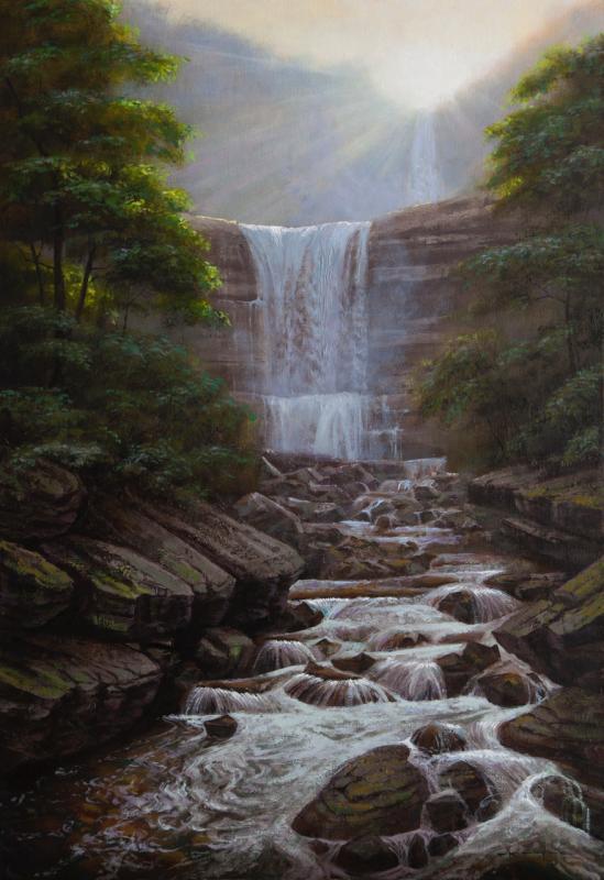 Kaaterskill Falls Dawn, Proverbs 16:21