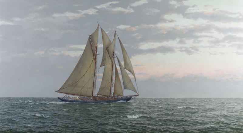 Gloucestermen at Sea, Schooner Puritan c. 1922